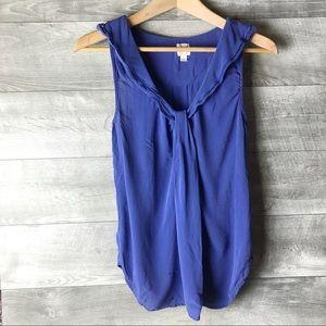 Anthropology edme & esyllte silk blue blouse top
